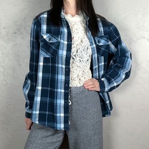 Vintage Midweight Plaid Flannel Shacket